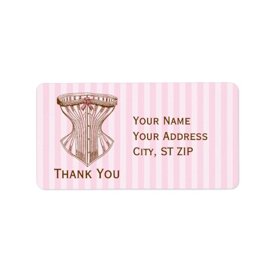 Vintage French Corset Address Label