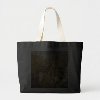 Vintage French Country Lady Garden Jumbo Tote Canvas Bag