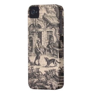 Vintage French Country Toile Blackberry Bold 9700/ iPhone 4 Case-Mate Cases
