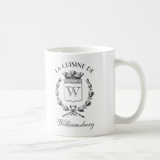 Vintage French Crest Kitchen of Custom Name Coffee Mug