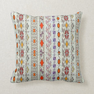Vintage French Crocheted Pattern Throw Pillow
