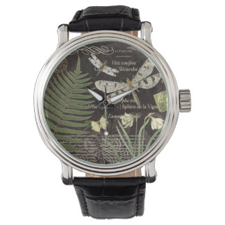 Vintage French dragonflies watch