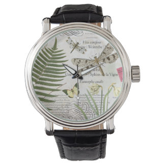 Vintage French dragonfly watch