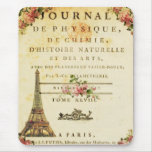 Vintage French Eiffel Tower Mousepad