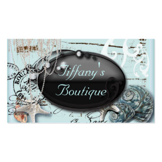 Vintage French Fashion Boutique Business Cards