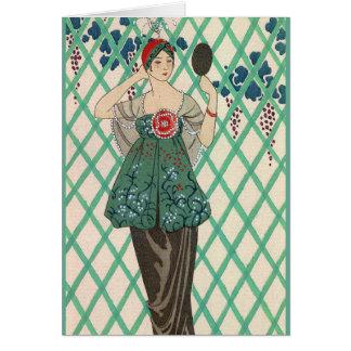 Vintage French Fashion Card
