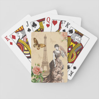 Vintage french fashion elegant playing cards