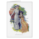 Vintage French Fashion from 1910 Greeting Card