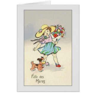 Vintage French Fête des Mères Mother's Day Card