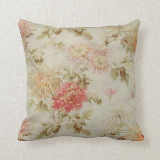 Vintage French Floral and Ticking from the 1800s Cushion