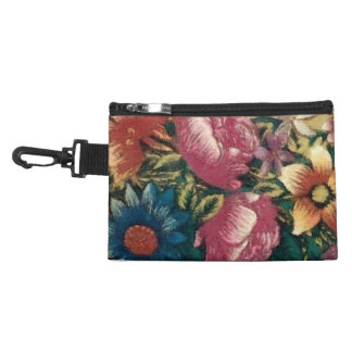 Vintage French Floral Accessory Bag