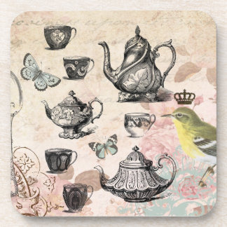 Vintage French Garden Tea Party coaster