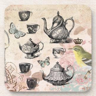 Vintage French Garden Tea Party coaster