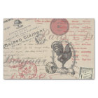 Vintage French Handwriting Paris Rooster Tissue Paper