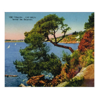 Vintage French image, France, Toulon, Cap Brun Poster