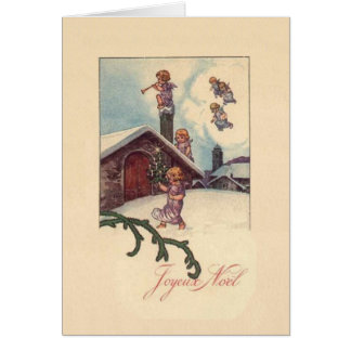 Vintage French Joyeux Noel Christmas Card