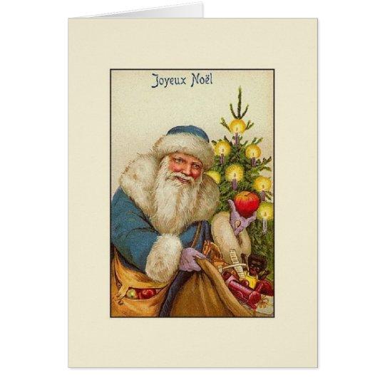 Vintage French Joyeux Noël Christmas Card