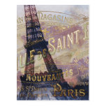 Vintage French Label and Eiffel Tower Post Cards