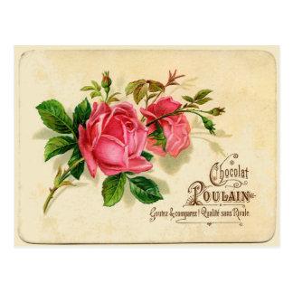 Vintage French Label Postcard