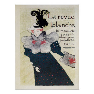 Vintage French literary magazine ad La Revue Blanc Print