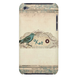 Vintage French Newspaper Bird iPod Touch iPod Touch Case-Mate Case