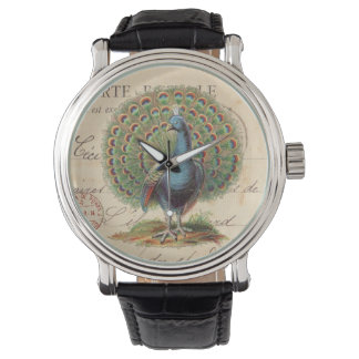 Vintage French peacock watch