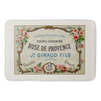 Vintage French Perfume Ad Art Bath Mat