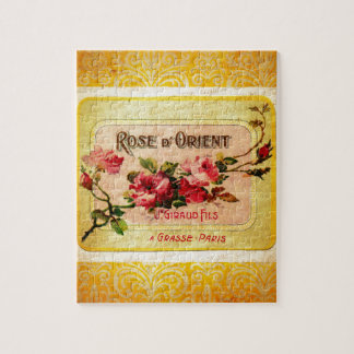 Vintage French Perfume Label Puzzle