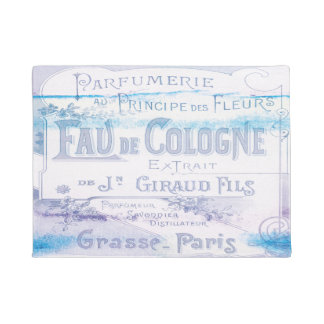 Vintage French Perfume Stylish Watercolor Chic Doormat