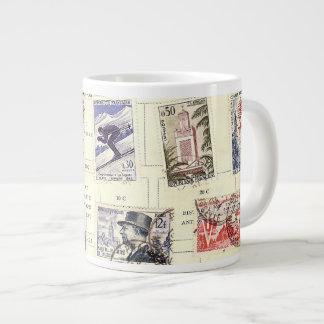Vintage French Postage Jumbo Mug