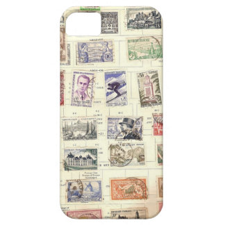 Vintage French Postage Stamps Barely There iPhone 5 Case