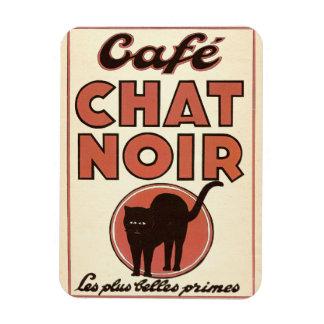 "Vintage french poster ""Café chat noir"" Rectangular Photo Magnet"