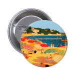 Vintage French Riviera Beach Button
