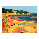 Vintage French Riviera Beach Post Card