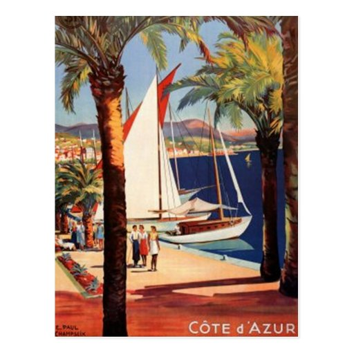 Vintage French Riviera, France - Post Card