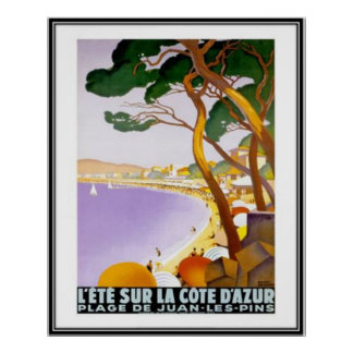 Vintage French Riviera, France - Posters