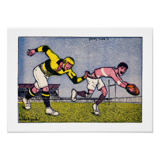 Vintage French Rugby Card - Print