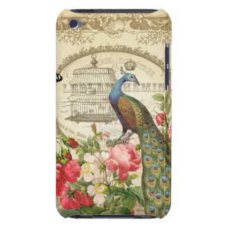 Vintage French Shabby Chic Peacock iPod Touch Case-Mate Case