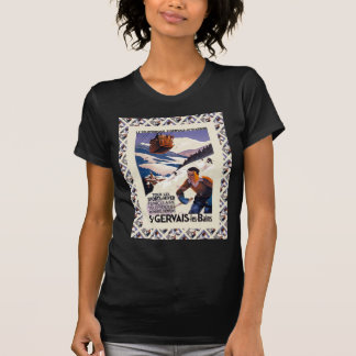 Vintage French Ski Resort Poster Shirts