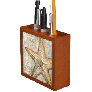 Vintage French Starfish Art Desk Organisers