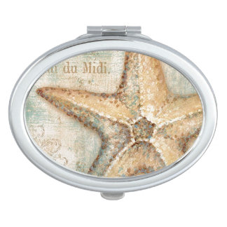 Vintage French Starfish Art Makeup Mirrors