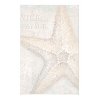 Vintage French Starfish Art Personalised Stationery