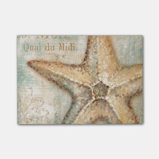 Vintage French Starfish Art Post-it® Notes