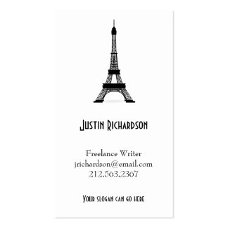 Vintage French Style Black Eiffel Tower Pack Of Standard Business Cards