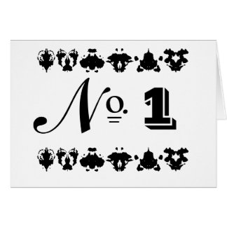 Vintage French Style Inkblot Wedding Table Cards