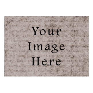 Vintage French Text Parchment Paper Background Business Cards