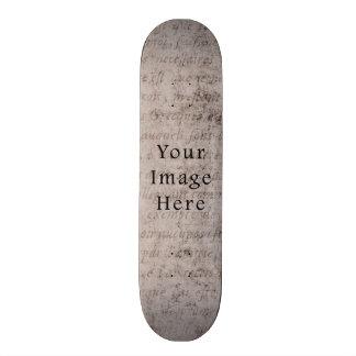 Vintage French Text Parchment Paper Background Skate Decks