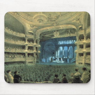 VINTAGE FRENCH  THATRE,  THEATRE STAGE MOUSE PAD