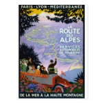 Vintage French Travel Poster Art Postcard
