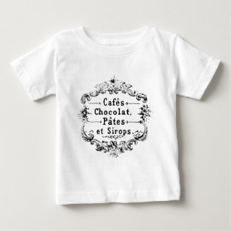 Vintage french  typography chocolate design baby T-Shirt